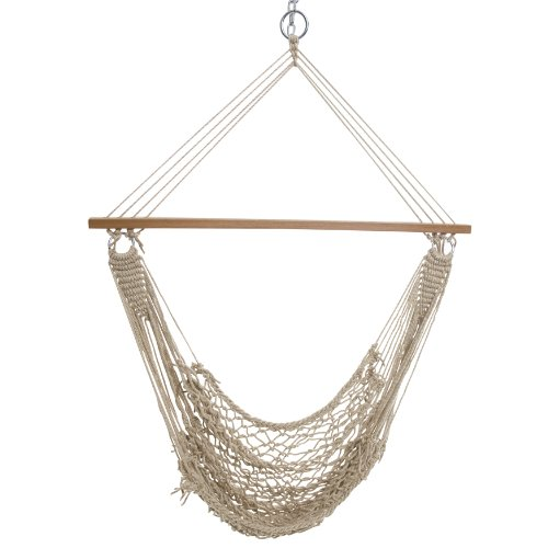 (Castaway Single Cotton Rope Swing)