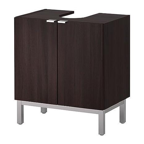 Ikea lillangen sottolavabo con 2 ante e base; in schwarzbraun; (60 x ...