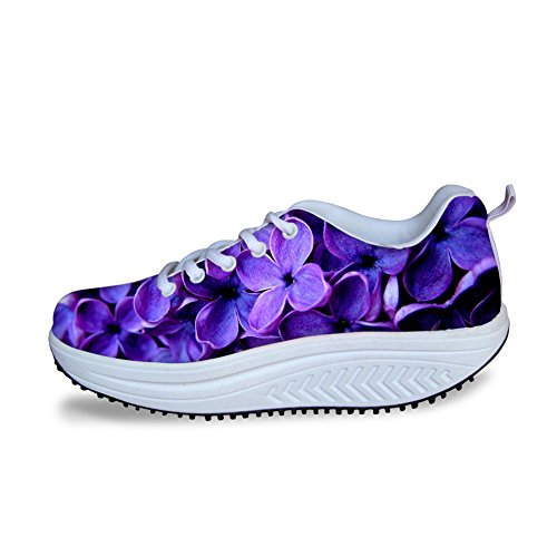 Stylish Walking Platform IDEA Womens HUGS Sneaker Print Rose Flowe14 Flower RFanwx1q