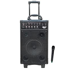 Pyle PWMA1050 Wireless Portable PA Speaker System, Built-in Rechargeable Battery, Wireless Microphone, 800 Watt