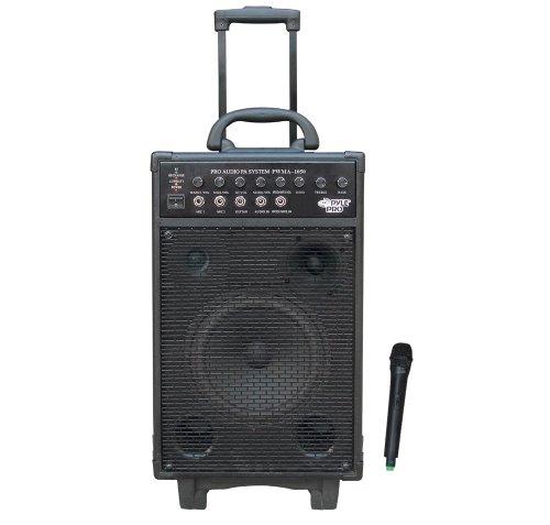 Pyle PWMA1050 Wireless Portable PA Speaker System, Built-in Rechargeable Battery, Wireless Microphone, 800 Watt