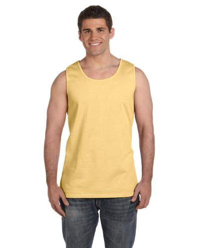 (Comfort Colors Ringspun Garment-Dyed Tank, 3XL, BUTTER)