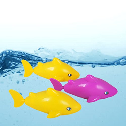 Swimming Fish Bath Toys Tub Pool water Toy Cute Wind Up Animal Bathtub Swimming Fun Toys Set for Kids,Pack of 3 Pieces Random Color (Bathtub Fish)