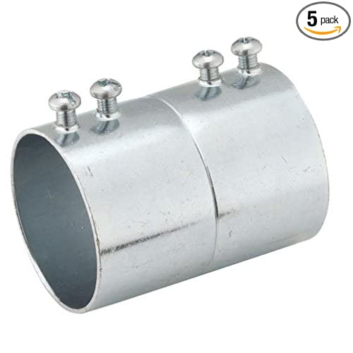2-1//2 Trade Size Hubbell-Raco 2150 Set Screw Coupling for EMT Pack of 5 Steel