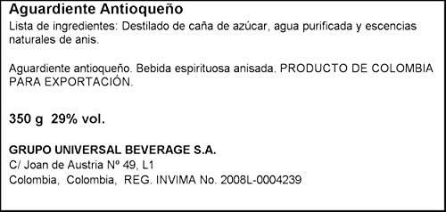 Antioqueño - Aguardiente botella, 350 ml: Amazon.es ...