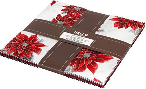 - Peggy Toole Holiday Flourish 12 Scarlet Ten Square 42 10-inch Squares Robert Kaufman TEN-672-42
