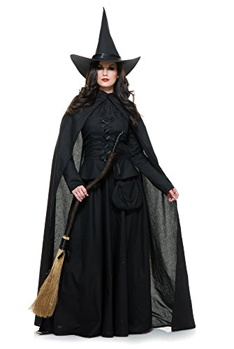 Charades Women's Wicked Witch, Black, Large