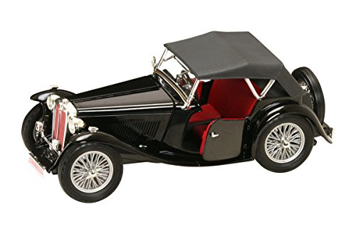 Road Signature 1947 MG TC Midget Vehicle (1:18 Scale), Black