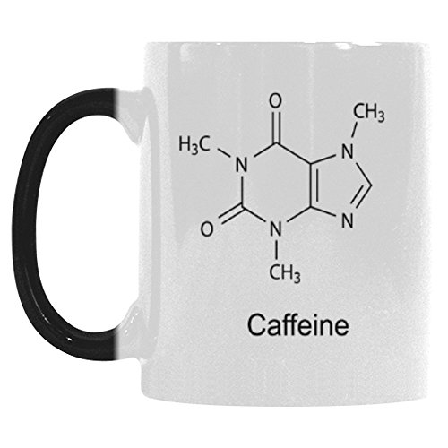 InterestPrint 11oz Theobromine Caffeine Chemistry Morphing Mug Heat Sensitive Color Changing Coffee Mug Cup with Quotes, Unique Funny Birthday Christmas Gifts for Men Women Him Her Mom Dad