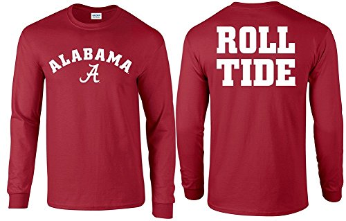 Elite Fan Shop Alabama Crimson Tide Long Sleeve Tshirt - 2XL