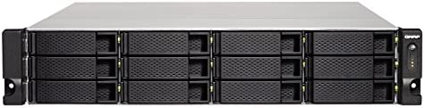 QNAP TS-1263XU-RP Ethernet Bastidor (2U) Negro NAS - Unidad Raid (Unidad de Disco Duro, SSD, Serial ATA III, 2.5,3.5