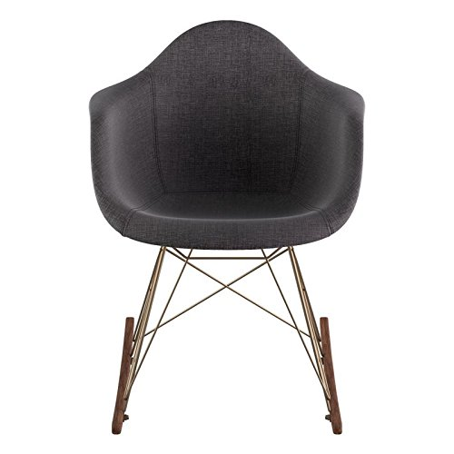 NyeKoncept 332008RO2 Mid Century Rocker Chair, Charcoal Gray from NyeKoncept