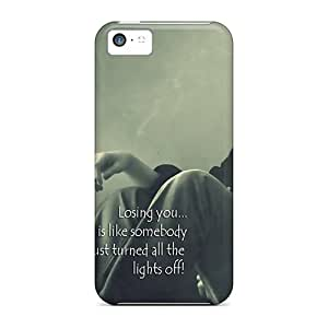 Iphone 5c Hard Back With Bumper Silicone Gel Tpu Case Cover Losing You