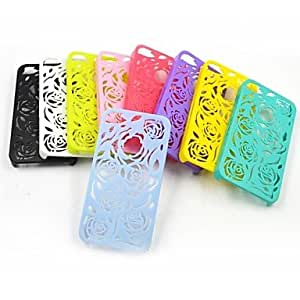 LCJ Hollow Out Pattern Of Roses Net Plastic Back Cover for iPhone4/4S(Assorted Colors) , Green