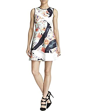 Womens Neoprene Printed Scuba Dress