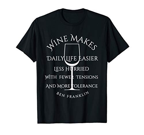 Wine Makes Daily Life Easier Ben Franklin Quote