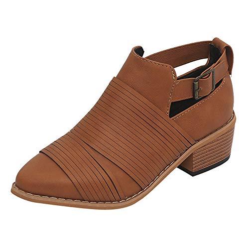 Lolittas Ankle Winter Boots Women Shoes,Black Chukka Desert Tactical Insoles High Chunky Heel Strap Platform Martin Walking Pu Rubber Brown