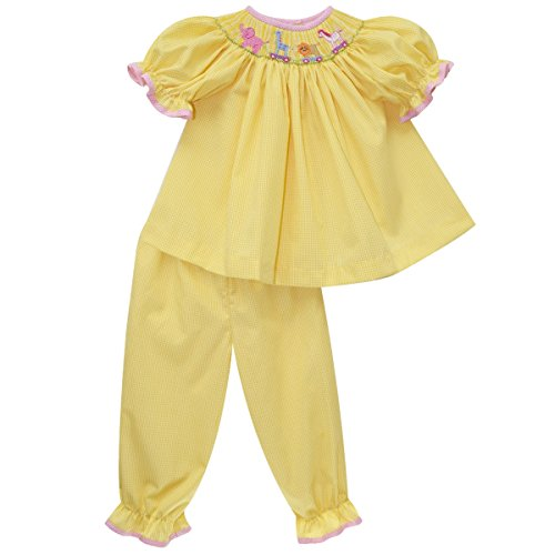 COLLECTION BEBE Animal Parade Smocked Blouse and Bloomer (Smocked Bloomer Set)