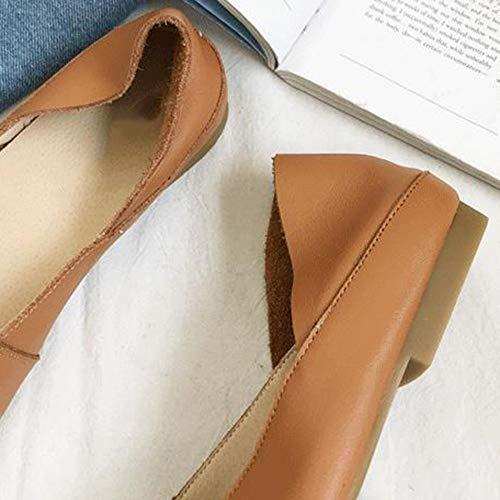 Zapatos Ladys Zapatos Mujer Viaje Planos Oficina Jane De Mary para Zapatos Brown De Hzq4X