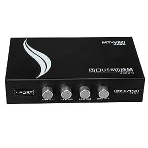 ELEGIANT 4puerto USB 2.0para compartir PC ordenador impresora escáner manual compartir caja de interruptor Hub