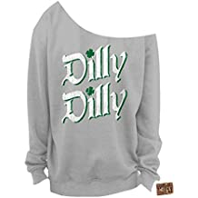 Vintage Fly Ladies ST Patrick's Day Dilly Dilly Slouchy Sweatshirt