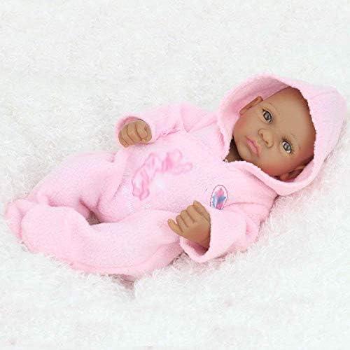 Reborn Poppen, Verzorgende Poppen, Simulatie Wedergeboorte Pop Siliconen Kinderspeelgoed Zwarte Huid In Het Water Pop Verjaardagscadeau 28 CM
