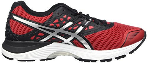 9 Gel Noir Black de Asics Chaussures Running 2393 Classic Homme Red Silver Rouge Pulse H4wwdq0E