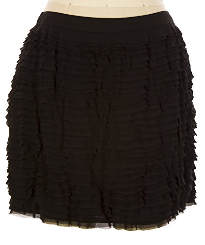 Michael Kors Women's Ruffled Poly Mini Skirt SZ 8 - Kors Free Michael Gift