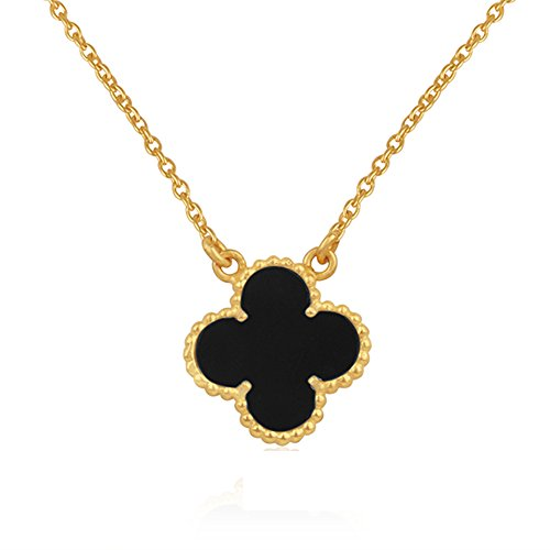 Black Friday Gift 18k Gold Plated Four Leaf Lucky Pendant Necklace (Lucky Gold Plated Necklace)