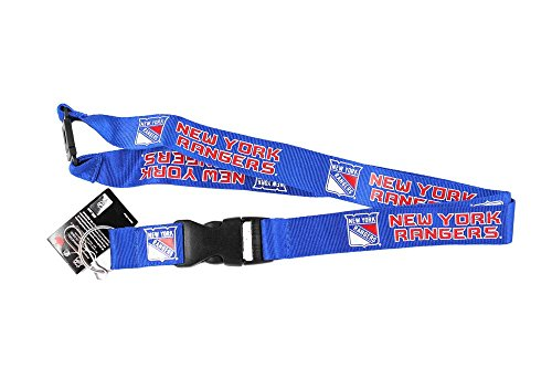 - aminco New York Rangers Clip Lanyard Keychain Id Holder Ticket - Blue