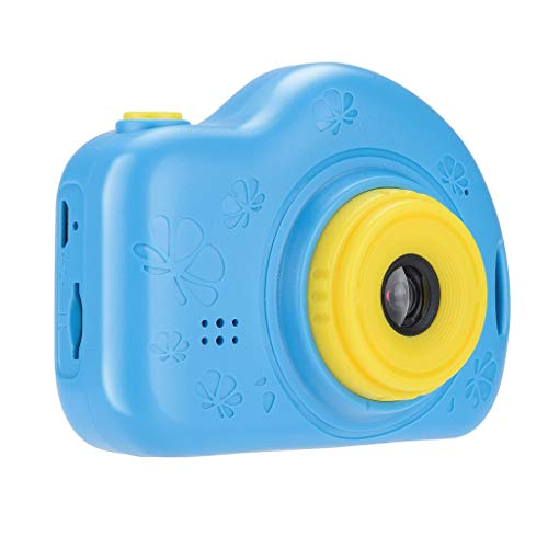 Fan-Ling Kids Camera Digital Video Camera Gift Mini Rechargeable Camera Creative Camcorder,Gifts for Kids,Pocket Size Easily Carry (Blue)