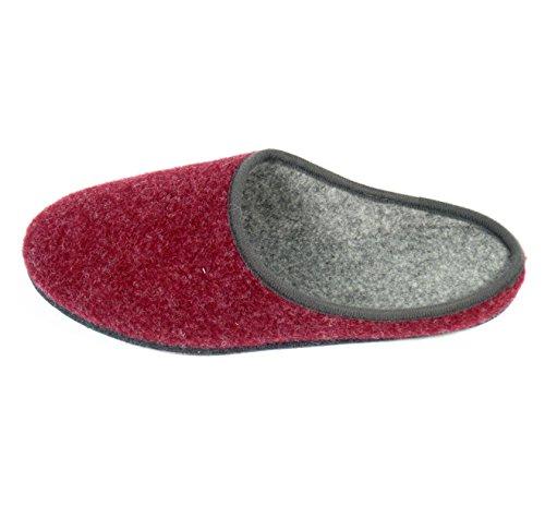 Filzpantoffel Hauspantoffel Filzlatschen Pantoffel Unisex Erwachsene versch Farben Rot