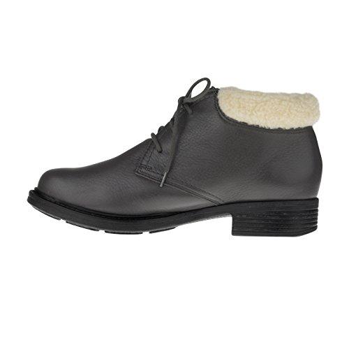 tessamino Damen Stiefelette aus Hirschleder | klassisch | Weite H | für Einlagen Grau