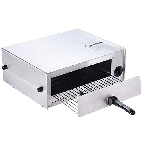 GHP Home 18.89''Lx15.74''Wx7.36''H Stainless Steel Electric Counter Top Pizza Oven