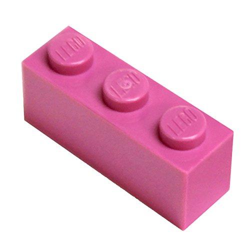 LEGO Parts and Pieces: Dark Pink (Bright Purple) 1x3 Brick x20