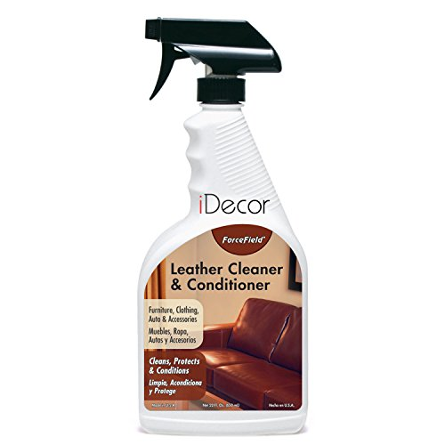 ForceField Leather Cleaner & Conditioner 22 oz. Spray (For Leather Furniture, Accessories, Shoes, Leather Handbags, Auto Interiors) Cleans Stains & Dirt (NOT for Suede or Nubuck) (1)