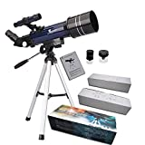 GEERTOP Ultra-Clear Astronomical Refractor Tabletop Telescope With Tripod & Finder Scope, 400X70mm, For Beginner Sky Gazers & Teens