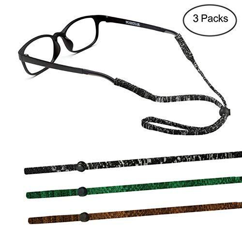 TERAISE Catena Di Occhiali 3pcs Regolabile Morbido Cinturino Per Occhiali Sport Allaperto Per Uomini Donne Bambini