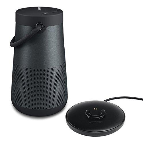 Bose SoundLink Revolve+ Portable Bluetooth Speaker, with Bose Charging Cradle for SoundLink Revolve+ (Triple Black) by Bose