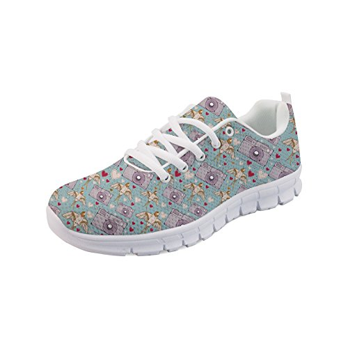 Nopersonality Women's Fashion Sneakers Beautiful Flowers Design Casual Sport Shoes Camera Wtlr6s