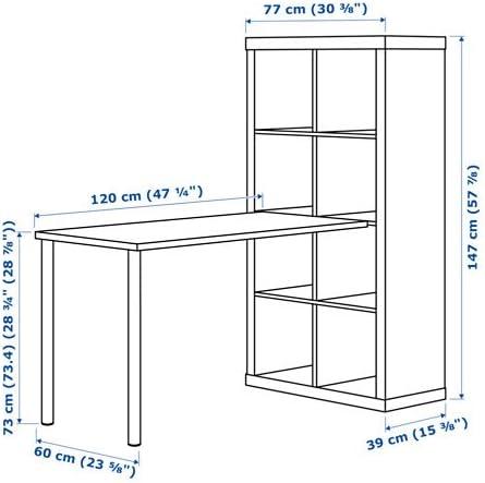 Negro Marrón IKEA Kallax estación de trabajo con estantería y ...