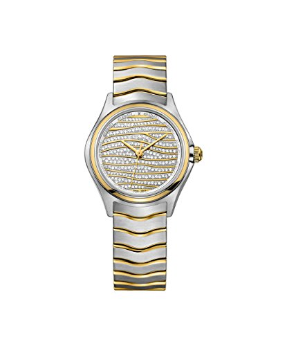 Ebel Wave Watch - Ebel Wave Diamond Pave Dial Ladies Watch 1216284
