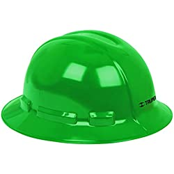 Casco de Seguridad, Ala Ancha, Color Verde