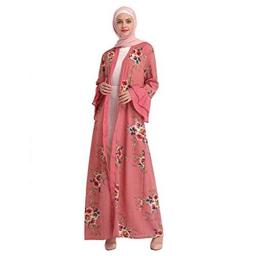 ed61f2da2d5d Muslim Dress Dubai Kaftan Women Long Sleeve Floarl Arabic Long Dress Abaya  Islamic Clothes Jalabiya Caftan