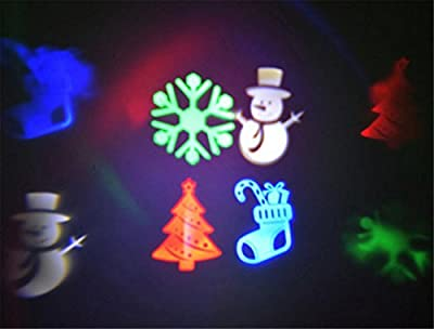HAPPYMOOD LED Projector Christmas Projection Lamp Waterproof Decorative Lights Spotlight Landscape Outdoor Display
