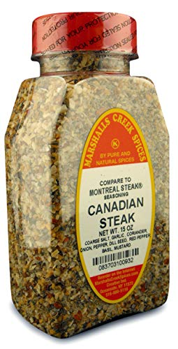 CANADIAN STEAK SEASONING - REFILL- (compare to Montreal Steak Seasoning®) FRESHLY PACKED IN FOOD GRADE HEAT SEALED POUCHES 15 oz