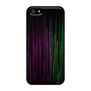 Hot Style PJoNamH8034PfMXV Protective Case Cover For Iphone5/5s(rainbow Lines)