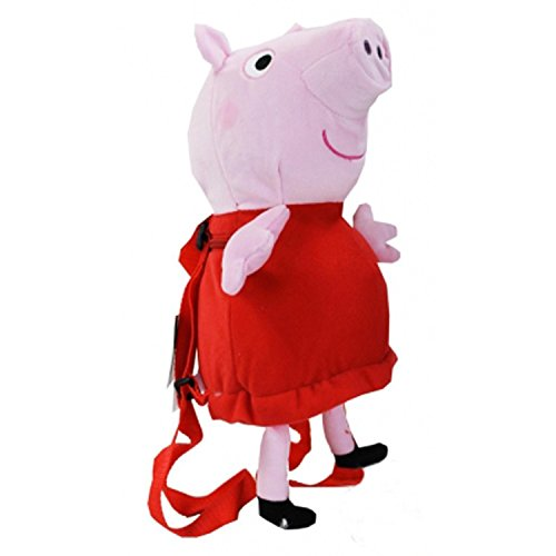 Peppa Pig Plush Backpack Pink Red -