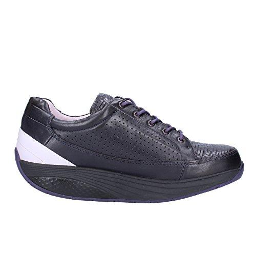 37 Sneakers Pourpre Noir Cuir Mode Femme Basket MBT EU Iv7U7