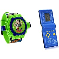 JINKRYMEN Projector Toy with Watch and Brick Video Game (Multicolour)